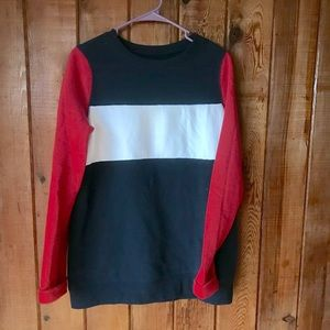 Hollister red and blue long sleeve sweatshirt sz M